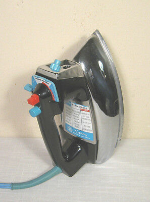 Vintage GE GENERAL ELECTRIC Steam Iron (70s) CHROME! Tested:WORKS WELL!