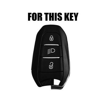 For Peugeot 208 308 508 3008 5008 Silicone Key Cover Fob Remote Case Holder-