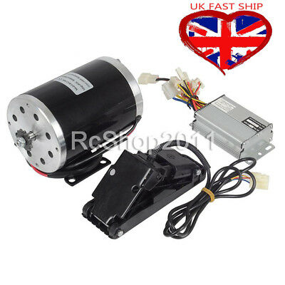 1000W 48V DC Electric Motor Kit & Base Speed Controller & Foot Pedal Throttle UK