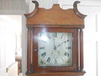 A 30 HourLongcase Clock By Geo Churchill Of Downton In Good Working Order