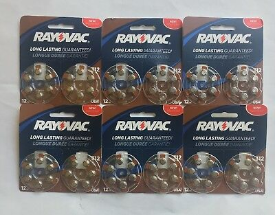 Rayovac 312 Hearing Aid Batteries 72 Batteries Total, Exp 2020