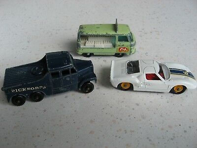 Matchbox SERIES No. 41 FORD GT RACER  + Scammel 6x6 Tractor + Bottle Float 21