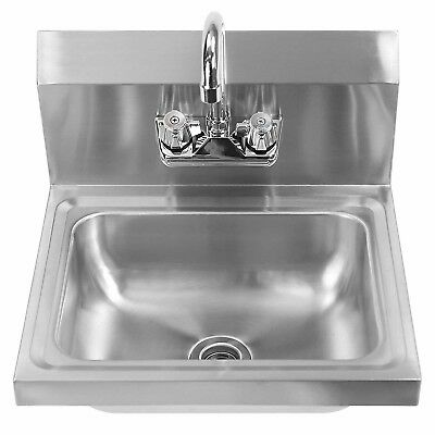 Wall Mount Stainless Steel Sink for Hand Washing with Faucet Commercial Uses