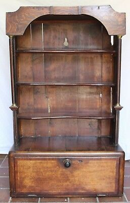 Vintage Wall Cupboard, Uniquely Crafted from Grandfather Clock