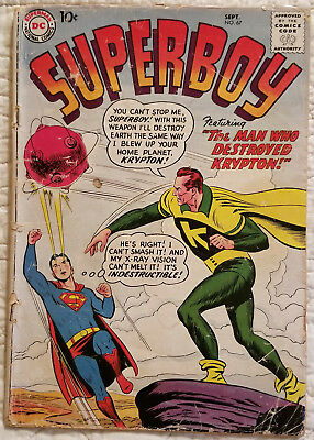 SUPERBOY #67 - A 60-year-old Classic Golden Age Superman Comic from 1958!