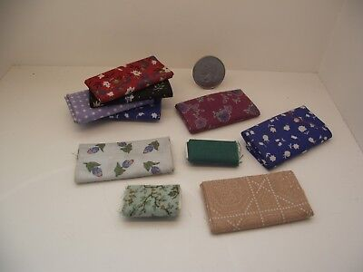 1:12 Scale Miniature Dollhouse Mixed Assorted Lot #3 Fabric Bolts