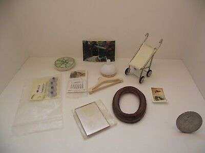 1:12 Scale Miniature Dollhouse Mixed Assorted Lot #5 Baby Carriage Picture Frame