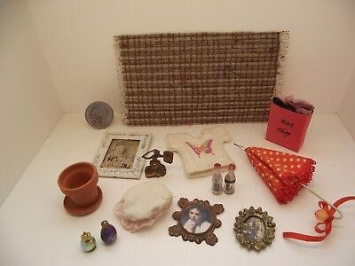 1:12 Scale Miniature Dollhouse Mixed Assorted Lot #8 Rug Picture Clay Pot