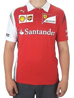 Puma Ferrari F1 SF Team Polo Herren Shirt Poloshirt Motorsport T-Shirt Racing M