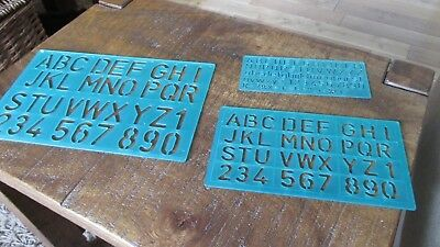 3 Plastic Alphabet Stencils - Large Letters, Medium Letters and Small Letters.