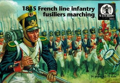 Waterloo 1815 - 061 - French Line Infantry Fusiliers Marching - 1:72