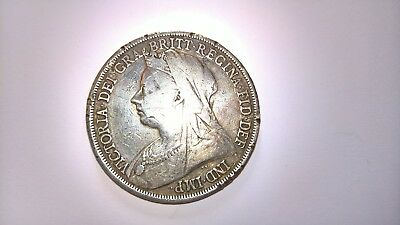 Queen Victoria 1893 Silver Crown Coin