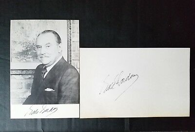 GALE GORDON I Love Lucy Autograph Signed Index Card and Photo