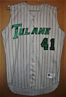 official photos 2aff5 ffe79 TULANE GREEN WAVE #41 Gray College Baseball Jersey