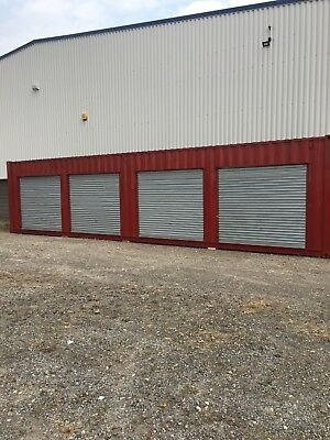 Shipping Container 40ft with roller shutter doors self storage Yorkshire