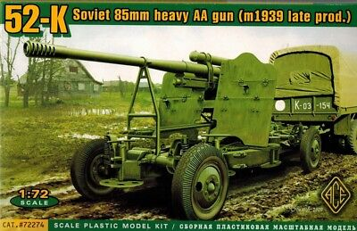 ACE 72274 - 52-K Soviet 85 mm AA gun (m 1939 late prod )  - 1:72