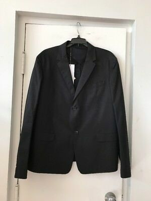 New Men's Marni Black Cotton Blazer Sport Coat EU SZ 54 $1,043