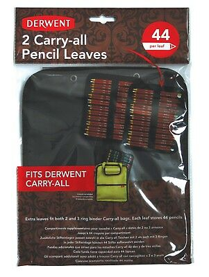 Derwent Carry-All Pencil Storage Bag Replacement Leaves Pack of 2