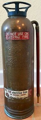 Antique GENERAL QUICK AID TS-15 Torpedo Shell Soda-Acid Fire Extinguisher Brass