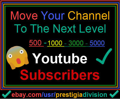 500 - 5K Youtube Subs For your Channel Only 9,49$