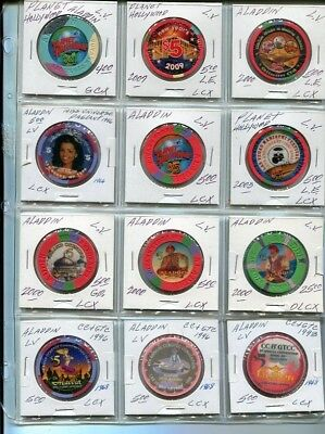 $$$ Group Lot 12 All Different Nevada Aladdin Planet Hwood Vegas Collection # 2