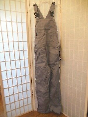 CRUDE FR Bib Overalls Size SMALL - TALL HP 780-GRY Protective Gear  NEW