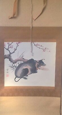 old large Chinese scroll painting