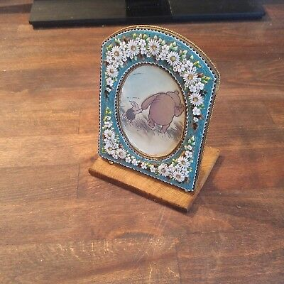 antique victorian micro mosaic picture photo frame