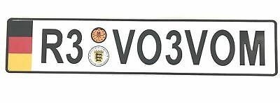 New European German License Plate For Audi BMW Mercedes Benz Porsche VW Volvo