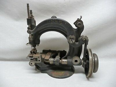 Antique Small Heavy Duty Cast Iron Sewing Machine