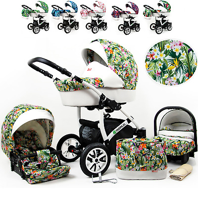 Baby Pram  Buggy Pushchair Car Seat Carrycot From Birth   Travel System Newborn