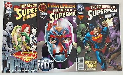 3 issues of The Adventures of Superman - # 534, 540, 543 - DC - 1996 - VF (572)