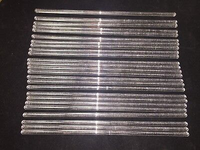 Kimble 6mm x 250mm Long Solid Glass Stirring Rods 40500-250 - Lot of 25 - NEW