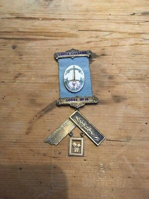 Silver Masonic Medal/jewel Causa Causans Lodge No 16 1972-3