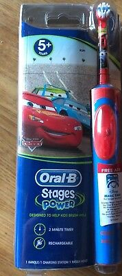 Oral B Stages Power Cars Kids Rechargeable Toothbrush Age 5+
