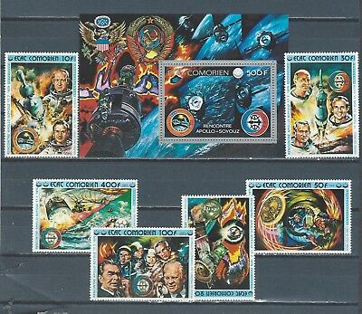 Middle East Comoro Islands stamp set & sheet astronauts - SPACE