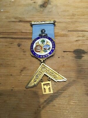 Silver Masonic Jewel/medal Boston Park Lodge No4576 1960