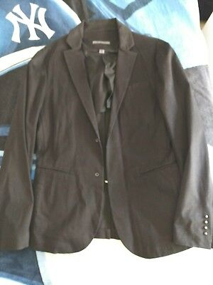 John Varvatos Collection Black 46R EU Hook And Eye Blazer Jacket Made In Italy