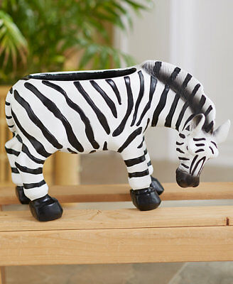 Zebra Flower Planter Safari Animal Home Decor LS 424182038