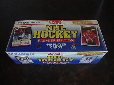 1990-91 Score Nhl Hockey Premier Factory Sealed American Set 445 Player Cards
