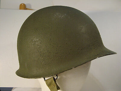 WW2 US M1 HELMET WWII World War II Original front seam complete with liner