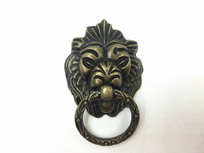 Dresser Drawer Cabinet Door Ring Lion Head Pull Handle Knob 8pcs A TAX FREE SALE