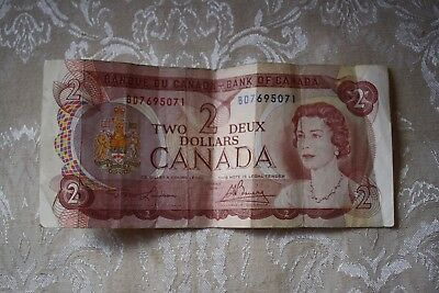 Ottawa 1974 CANADA Canadian $2 Two Dollar Bill Note Circulated BD7695071