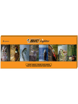 BIC Special Edition Outdoors Series Lighters, Set of 8 Lighters