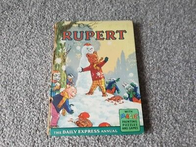 Rupert annual 1962, Good condition, Tape on spine , Original Hardcover