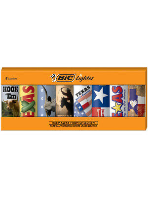 BIC Special Edition Texas Series Lighters, Set of 8 Lighters