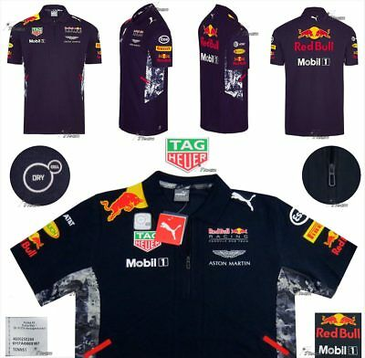 ✮ Aston Martin Red Bull Racing PUMA - Herren Team Polo Shirt - Formel 1 in  L ✮