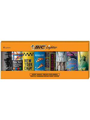 BIC Special Edition New York Series Lighters, Set of 8 Lighters