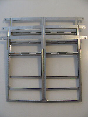 3 Kodak 5x7 Double 4A Film and Plate Developing Hangers Holders Stainless Steel