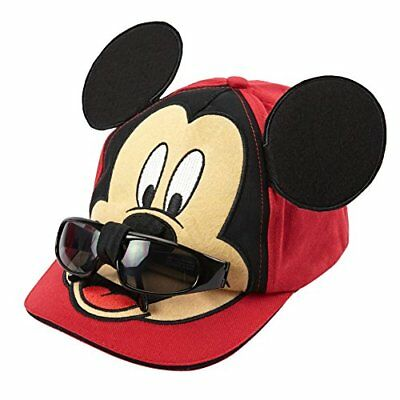 Disney Boys Mickey Mouse Baseball Cap - 100% Cotton (with Removable Sunglasses)